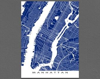 Manhattan Map Print, Manhattan Art, NYC, New York City Map