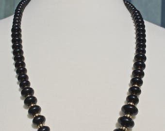 Black and Gold Napier Necklace