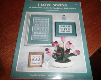 I Love Spring Hardanger Embroidery Pattern Leaflet