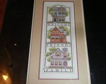 Vintage Dimensions Stamped Cross Stitch Kit Victoriana Welcome