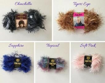 Fun Fur Yarn, Fun Fur, Novelty Yarn, Lion Brand Fun Fur, Eyelash Yarn, Furry Yarn, Yarn Fun Fur, Fancy Yarn, Lion Yarn, Tropical, Sapphire