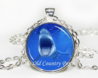 Shark-Glass Pendant Necklace