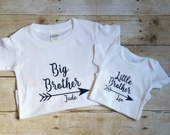 Personalized big brother and little brother shirts, sibling shirt, matching shirt sets, matching brother shirts, sibling shirt sets