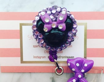 Minnie Mouse Inspired ID clip