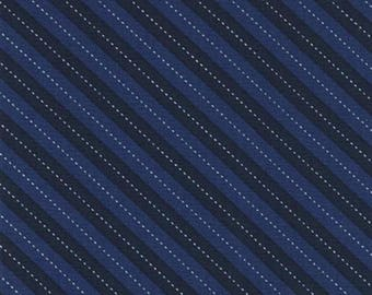 Balloon Navy Blue and White Stripe by Michael Miller - DC7199-NAVY-D