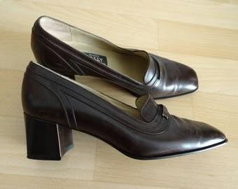 Escarpins vintage en cuir BALLY pointure 38,5 - uk 5,5 - Us 7 - It 37,5