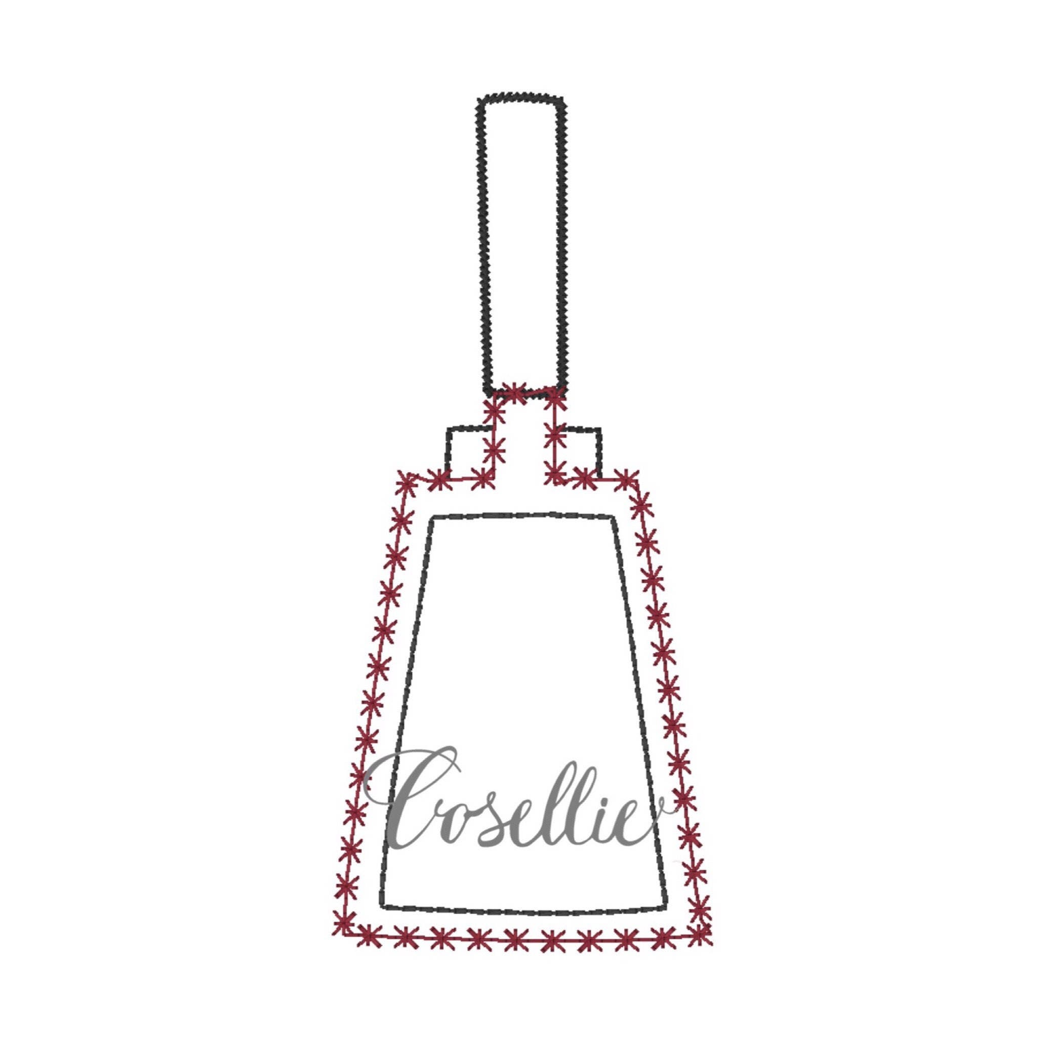 cowbell embroidery design cowbell outline embroidery design