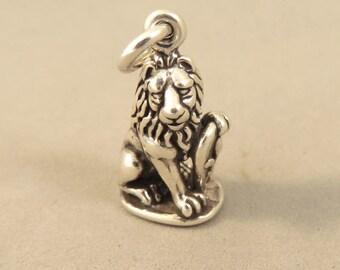 MARZOCCO LION .925 Sterling Silver 3-D Charm Pendant Florence Italy Fleur-de-lis Italy donatello piazza della signoria italian shield  tr137