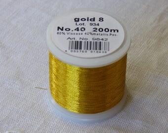 Madeira Metallic # 40 gold collar 8