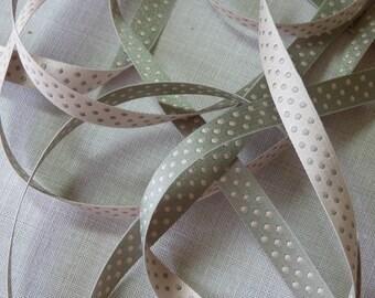 Eloise reversible stripe pink grey or gray pink polka dot