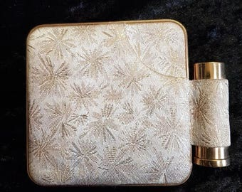 Vintage Powder Compact with Lipstick Holder