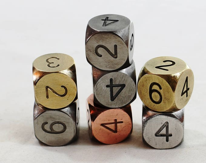 Featured listing image: Zucati Dice: Metal Museum 7d6 Set Round Corners