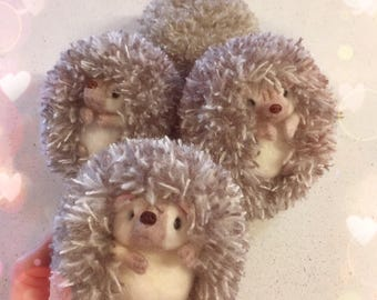 Needle Felt Animal Sculpture - Hedgehog