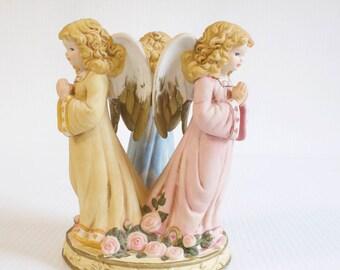 Vintage Angel Figurine - angels praying  by Terra Cottage