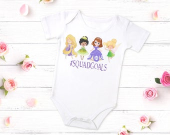 Squad Goals Princess Shirt, Princess Outfit, Squad Goals Princess Outfit , Rapunzel, Princess Tiana, Sofia The First, Tinker Bell