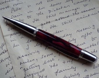 Superior Handcrafted 'Sierra Twist Ballpoint Pen' in cast acrylic. Lovely gift. (Item 161)