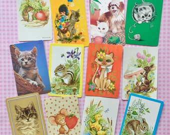 Vintage Playing Cards- Cats and Critters