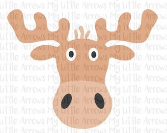 SALE- Moose SVG, DXF, Eps, png Files for Cutting Machines Cameo or Cricut - cute toddler boy shirt - forest animal theme - moose svg - moose