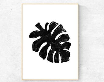 Monstera Ink Drawing - Digital Download
