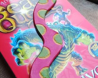 Handmade Children's Leather Snake bookmark