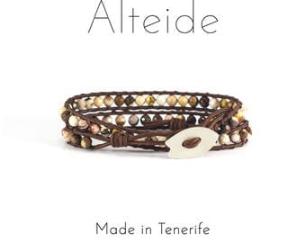 Bracelet Antequera 2 waves - Alteide - made in Tenerife - surf inspired - 925 Silver - Zebra - man woman