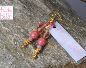 peach colored earrings