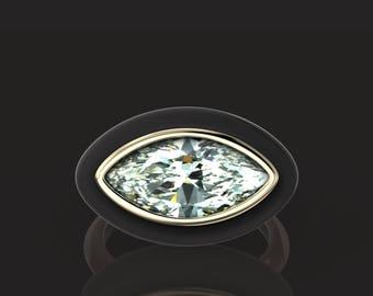 Custom Made Enamel Ring