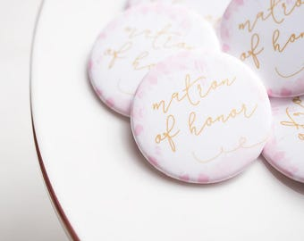 Bridal Party, Matron of Honor, Bride Tribe, Flare Button, Bachelorette Party, MOH Button, Wedding Shower, Bar Crawl, Party Bus, Wedding