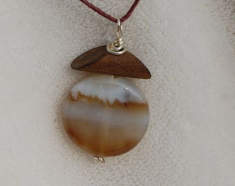 Stone & Wood Natural Fiber Necklace