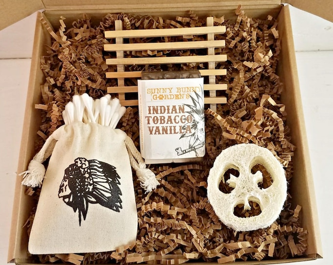 Tobacco Mens Soap Gift Set, Masculine Soap For Men, Gifts For Fathers Day, Gifts for Men, Fun Gifts For Dad, Funny Cats, Indian Tobacco Soap