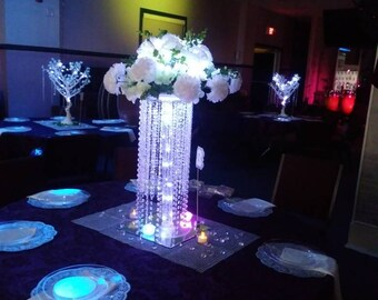 Chandelier / Wedding Center Piece For Table/tabletop Chandelier/crystal  Chandelier Drop /cascading