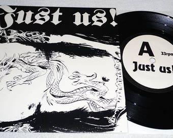 "Just us! -7 ""-Deathbox Records 1-vinyl record disc"