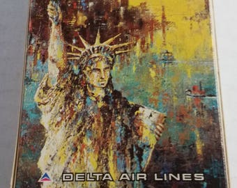 "Vintage Delta Airlines ""Statue Of Liberty"" New York City Playing Cards"