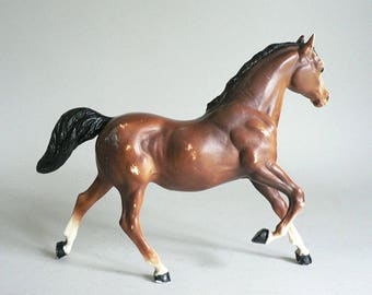Vintage Toy Brown Plastic Horse
