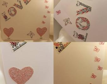 Love card Butterfly
