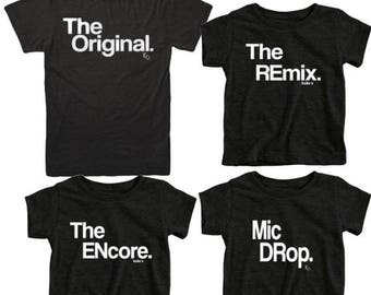 Hija de padre coincidencia de camisetas   Padre de bebé juego camisas   Original Remix   Hijo de padre   Juego   Papá y yo camisas   Tes de Duo