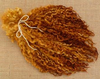 Cerraduras de Teeswater teñidas a mano - lana Lana rizada de cerraduras - cerraduras de Teeswater lana - cerraduras - cola spinning lana cerraduras - blythe dolls - reroot de pelo