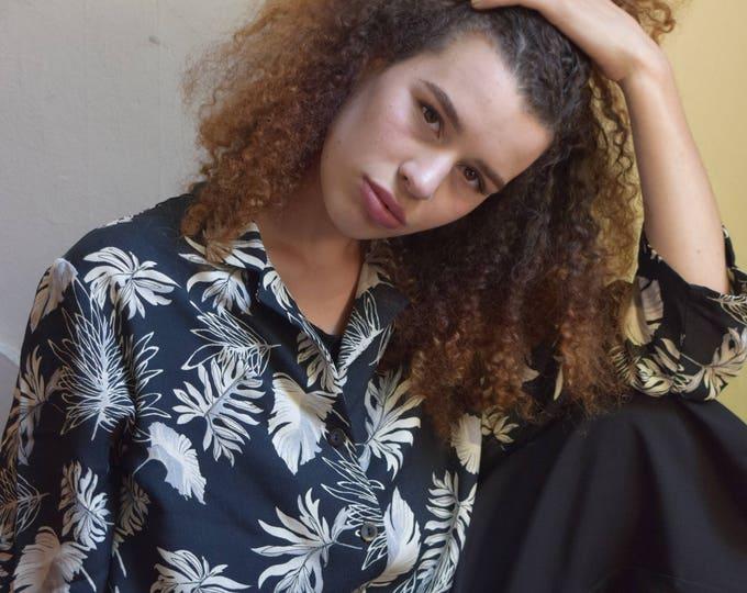palm leaf blouse.
