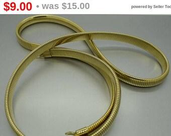 Vintage Gold Stretch Fashion Belt