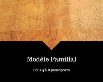ANTI RFID protection | Family passport holder | Travel case | Boarding pass | 4 - 8 passeports