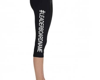 Personalized Peloton inspired leaderboard name capri Length Legging