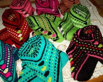 Hand Knitted Ladies Slipper Socks