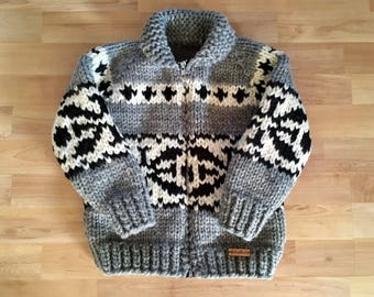 Children's Cowichan Style Sweater - Knitted Children's Jacket