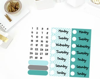 Chilly Winter Date Cover Up Stickers! Perfect for your Erin Condren Life Planner, calendar, Paper Plum, Filofax!