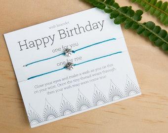Happy Birthday Wish Bracelet, best friend birthday gift, Friendship Bracelet, Anniversary Present, Loved One birthday, couple birthday gift