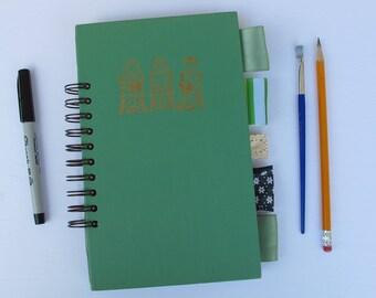 junk journal, dream journal, bullet journal, smash book - vintage hardcover book journal - travel junk journal