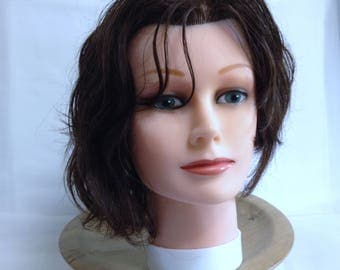 Mannequin Model Cosmetology Mannequin, Hat Display Tool, Head with Real Hair, Hat Display Showcase, Halloween Decapitated Head