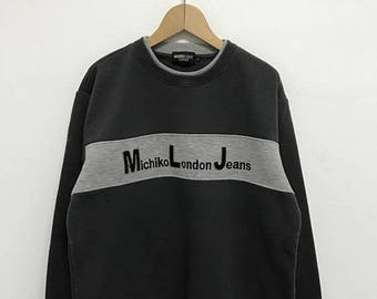 20% OFF Vintage Michiko London Jeans Sweatshirt/Michiko Spell Out/Michiko Sweater