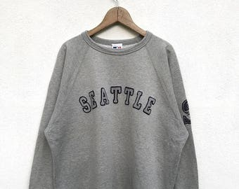 "20% OFF Vintage Seattle Mariners Sweatshirt / Major League Shirt / Mariners Baseball / Baseball Clothing / Armpit 23.5"""