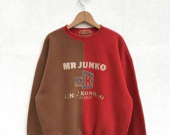 20% OFF Rare Vintage Mr Junko Sweatshirt Junko Koshino For Men Designer Shirt Junko Sweater,Japanese Designer Shirt/Junko Koshino Clothing